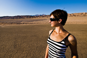 Kathrin im Death Valley, 2009