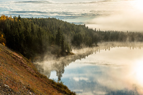 Morgenstimmung am Alaska Highway