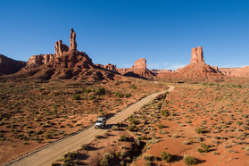 Durch das Valley of the Gods