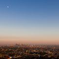 Los Angeles mit Mond