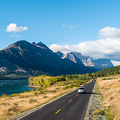 Auf der Going-to-the-Sun Strasse im Glacier Nationalpark