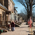 Strassenszene in Colonial Williamsburg