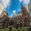 Alte Kirche in Manhattan Downtown