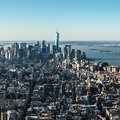 Aussicht vom Empire State Building auf Manhattan Downtown