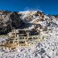 Mammoth Hot Springs im Morgenlicht