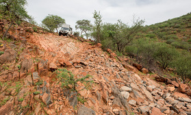 Oops, am Point of no Return am van Zyl's Pass