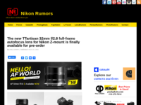 Screenshot Nikon Rumors